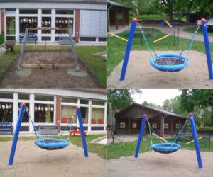 Spielgeräte-Aufbau für einen Kindergarten in Wilhelmshaven