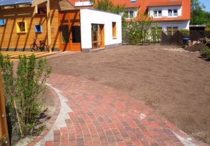 Plasterarbeiten / Wegebau am Waldorfkindergarten Wilhelmshaven