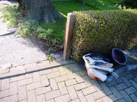 Zaunbau in Wilhelmshaven, Waagestrasse